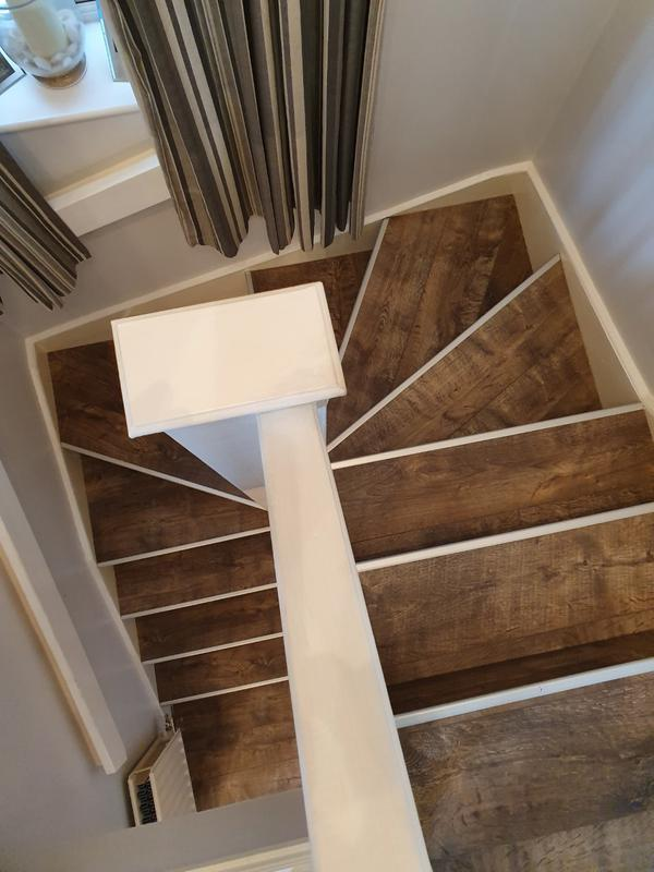Image 3 - Staircase completed finished with silver stair nosings