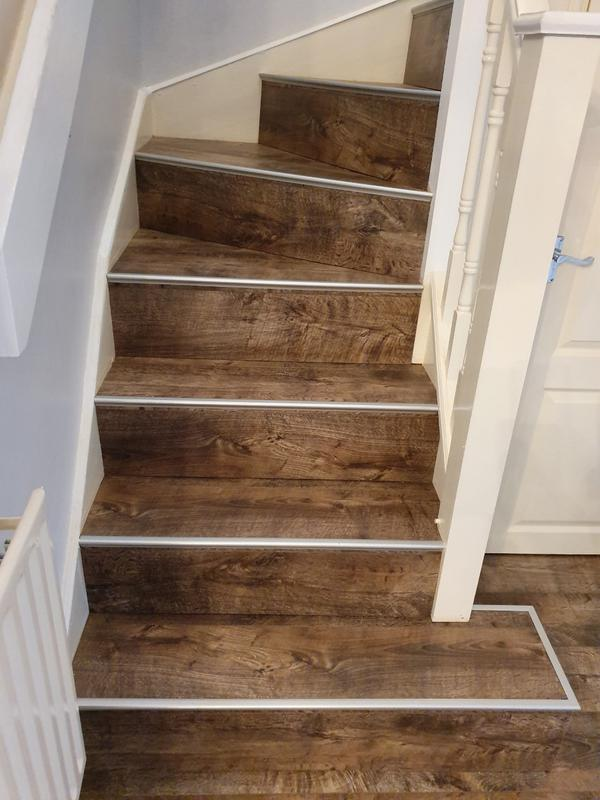 Image 4 - Staircase completed finished with silver stair nosings