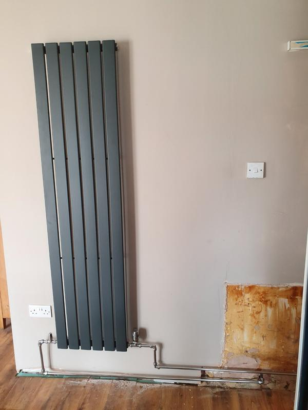 Image 60 - New vertical radiator installed for client in their kitchen.