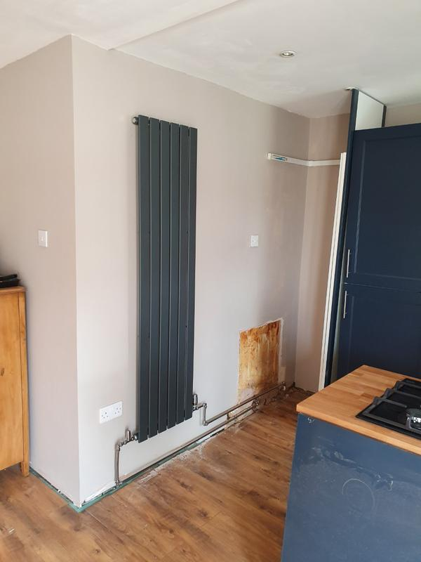 Image 61 - New vertical radiator installed for client in their kitchen.