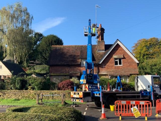 Image 58 - chimney repair's and chimney cowling installation on a listed property in Gomshall Surrey