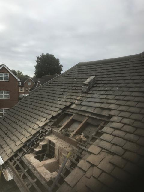 Image 22 - chimney removal and retiling