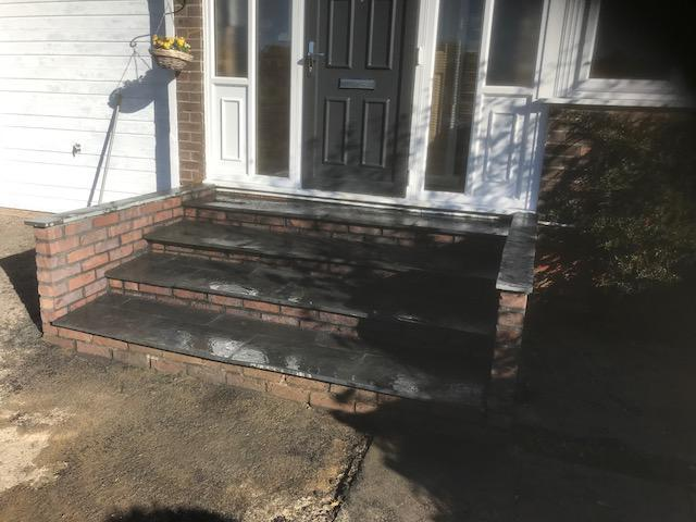 Image 19 - New brick steps constructed in Guildford completed