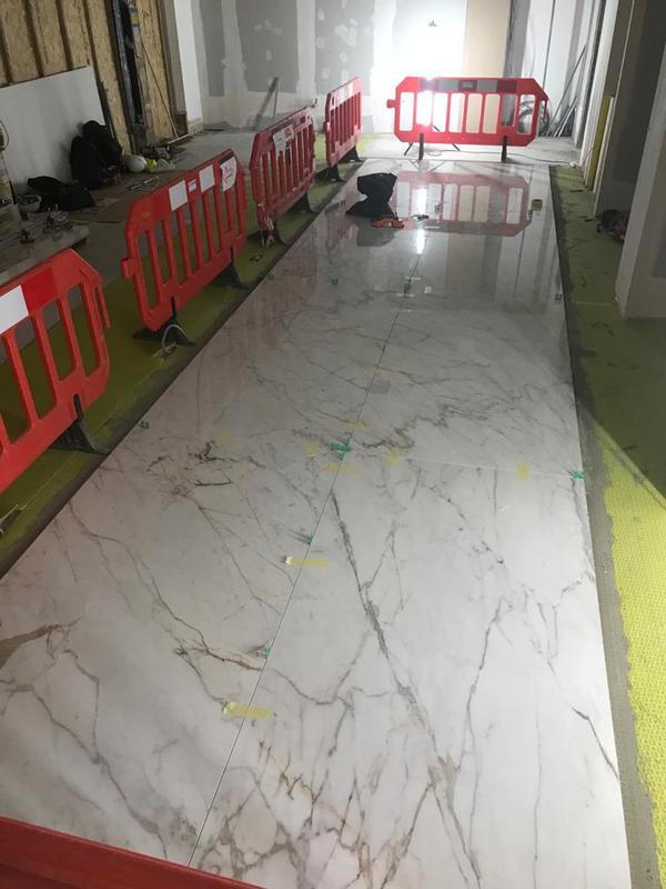 Image 19 - Marble floor tiling large format tiles.