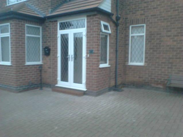 Image 18 - Within three days the extension is fully built and door and window fitted