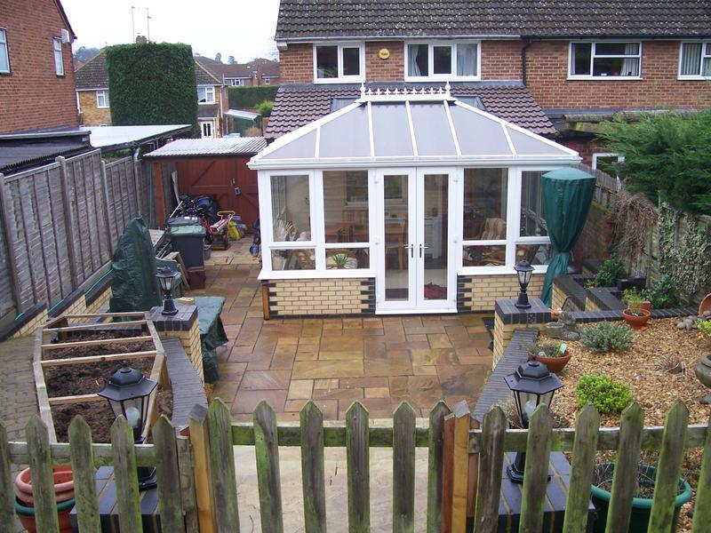 Image 13 - Photo of same property with Conservatory added the following year.