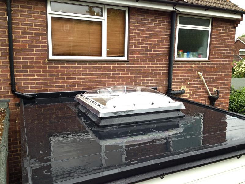 Image 15 - New Rubberbond Flat Roof Warm Deck Including New Velux Flat Roof Dome