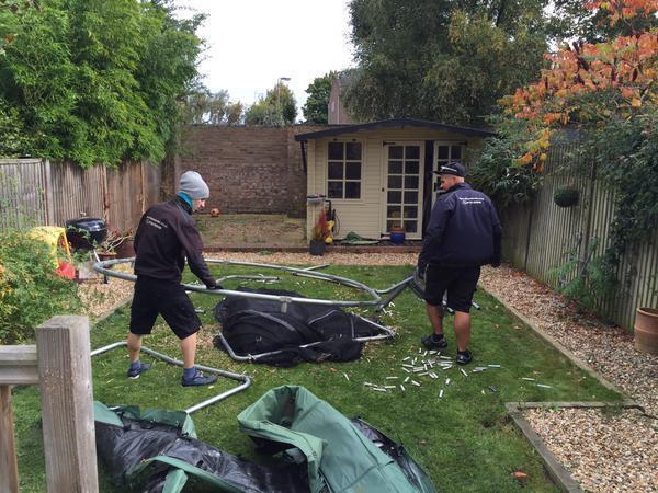 Image 15 - Dismantling Trampoline