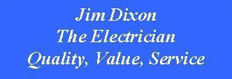 Jim Dixon The Electrician logo