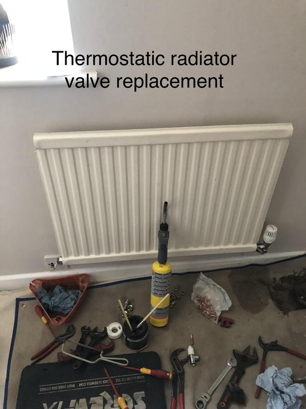 Image 33 - 8 mm Thermostatic radiator valves installation. Replaced both side valves