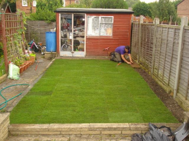 Image 36 - garden area nearly finished returfing