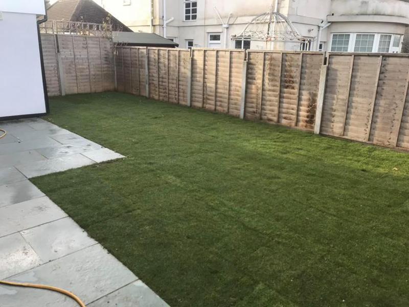 Image 27 - Garden leveled and new turf laid.