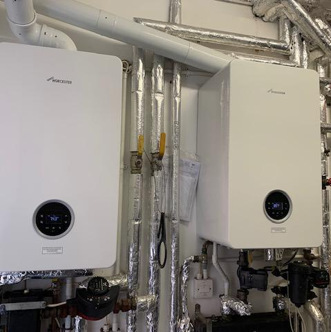 Image 3 - Two Worcester Bosch Life 8000 35Kw system boilers