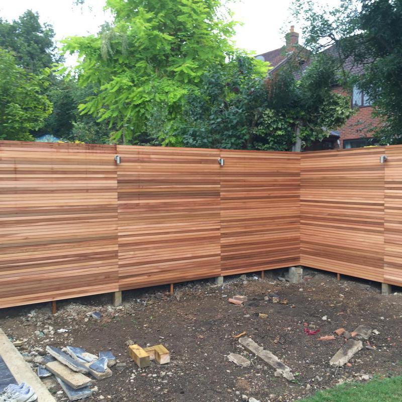 Image 3 - Cedar cladding to this new garden.