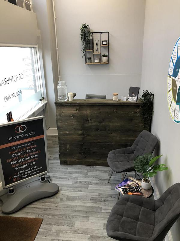 Image 4 - New reception area for Cryo Place, full refurbishment, handmade desk to suit clients design.