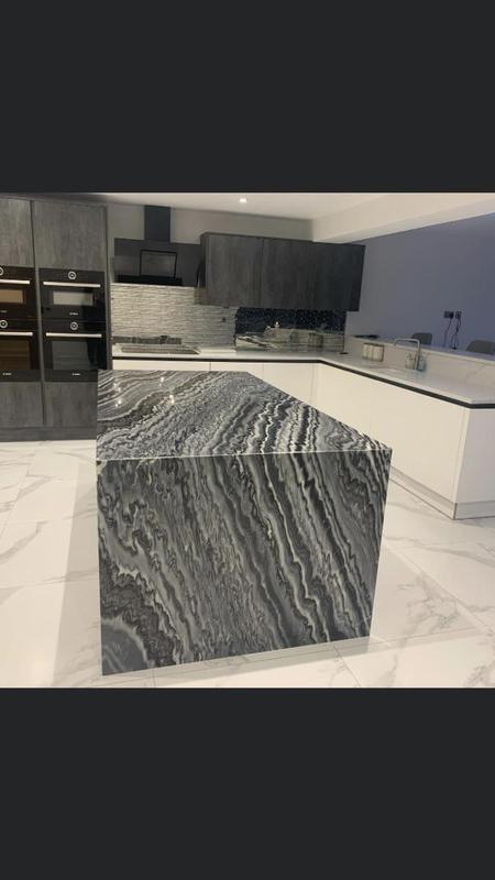 Image 33 - This piece of marble is lovely, stock matched for the returns to the floor .