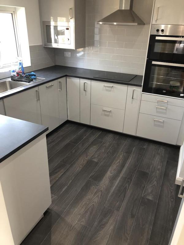Image 15 - An ikea kitchen, with new flooring.