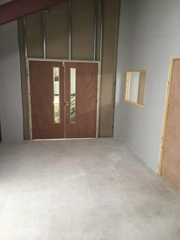 Image 22 - New doors for forklift access for pallets.