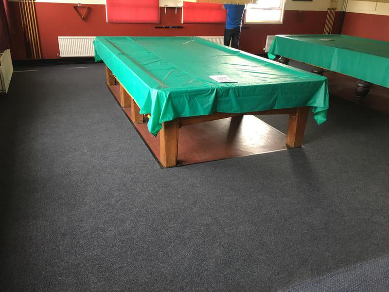 Image 20 - A new fresh look, old vinyl cut back around the tables with a reducing strip to finish.