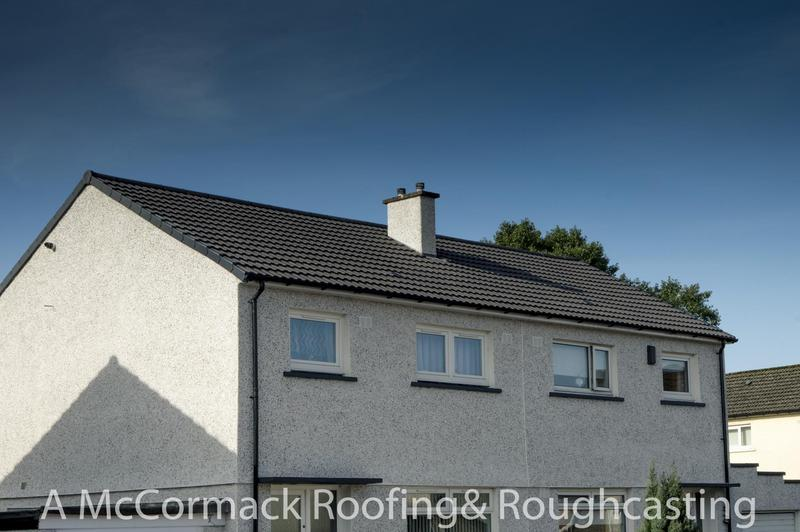 Image 2 - Grey Ludlow tiles really compliment this house in Renfrew