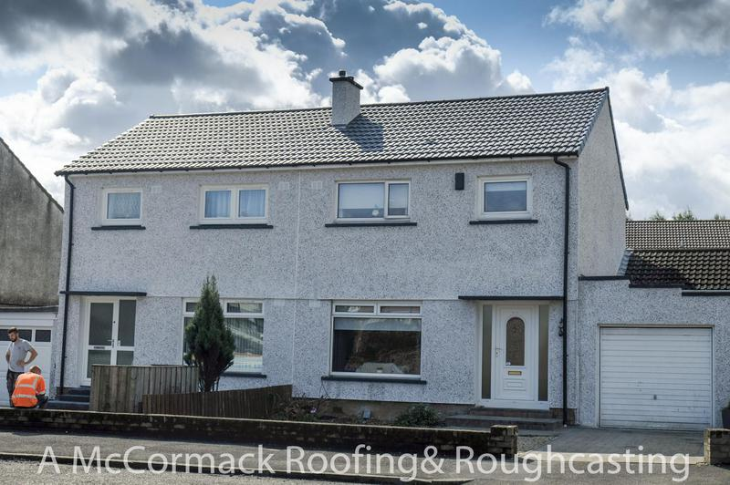 Image 1 - Recent Re Roofing and Roughcasting job in Renfrew and another 2 happy customers