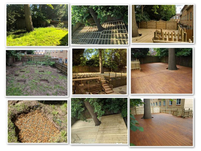 Image 6 - 100sm decking wrapped around a preservation oak tree, of course all the necessary steps where taken