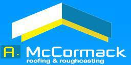 A McCormack Roofing & Rough Casting logo