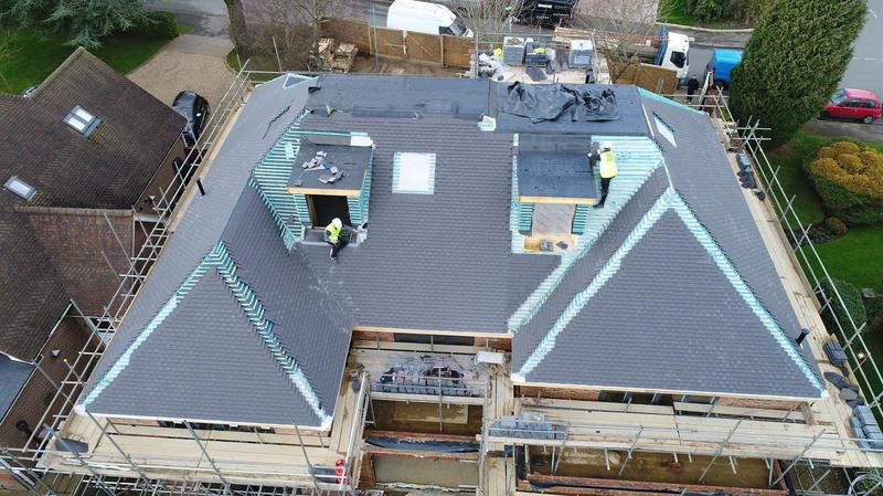 Image 57 - Tiled roof and 3 Felt Roof on a large property in Harpenden