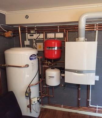 Image 4 - Boiler room in Wrexham with unvented hot water cylinder