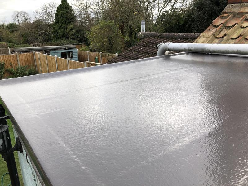 Image 47 - A lovely finish to this fibreglass resin roof, finished in dark grey. no more leaks from here!