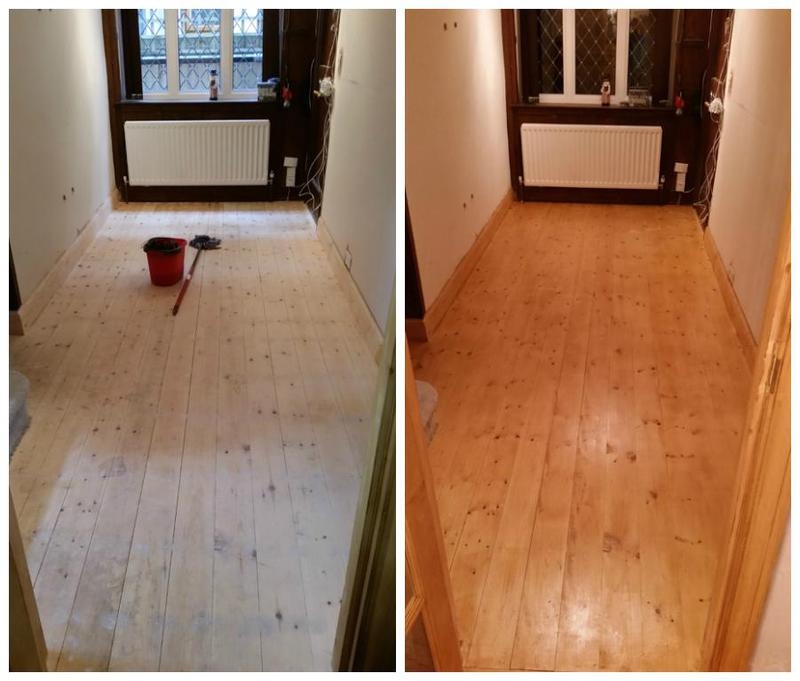 Image 78 - Floor fully sanded and varnished.