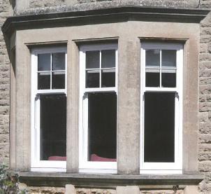 Image 3 - White UPVC Vertical Sliding Sash Windows with Astragal Bars