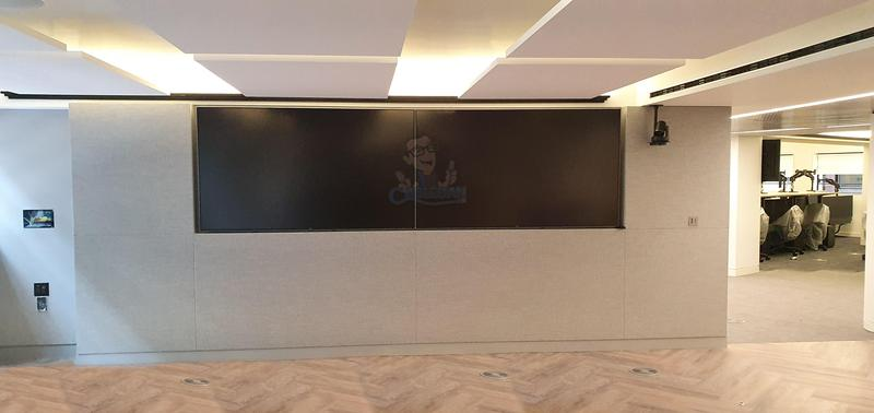Image 36 - Large double screen video wall installed in modern office in Central London