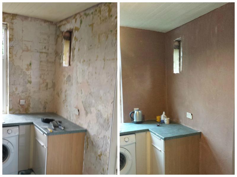 Image 15 - Kitchen walls re plastered.