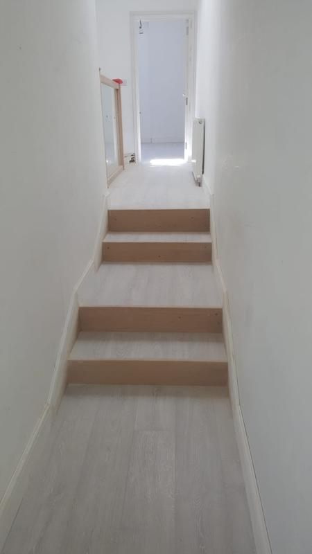 Image 27 - Stripped hallway, insulated, painted white and laid laminate flooring
