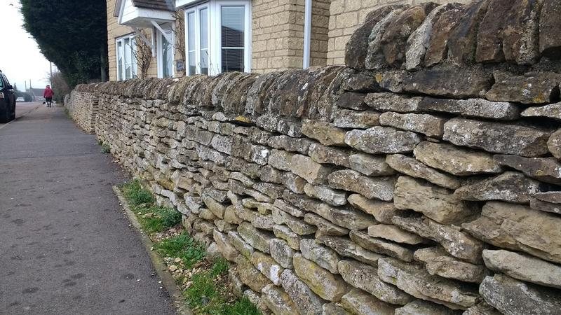 Image 161 - Beautiful stone wall built with reclaimed stone