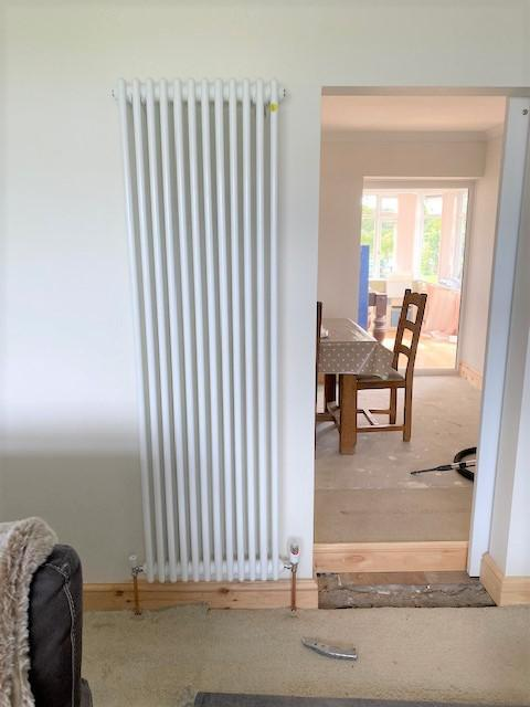 Image 13 - New vertical radiator installed