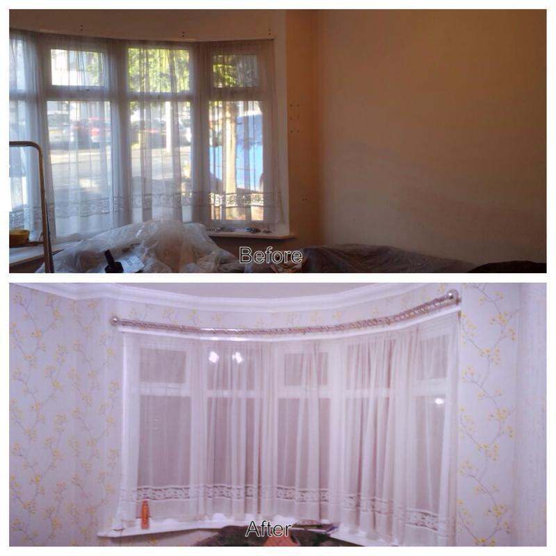 Image 9 - Pattern repeat wallpaper in bay wndow