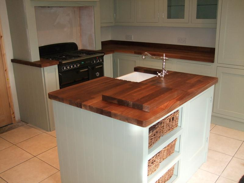 Image 5 - Walnut worktop island unit