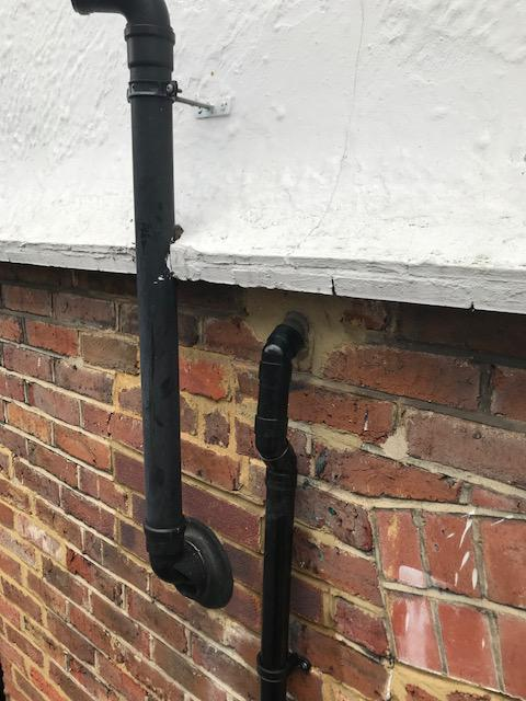Image 43 - Waste pipe removal and re plumb due to cracks and leaks in Guildford.