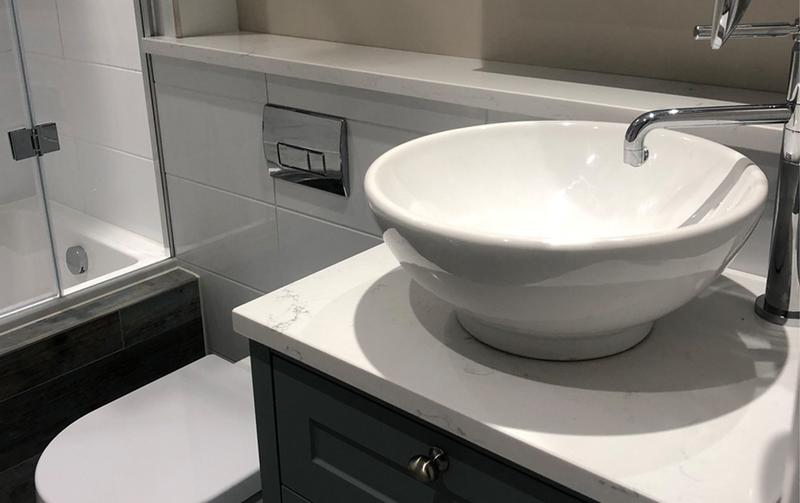 Image 27 - A stylish counter top basin for a modern bathroom look with a long neck tap.
