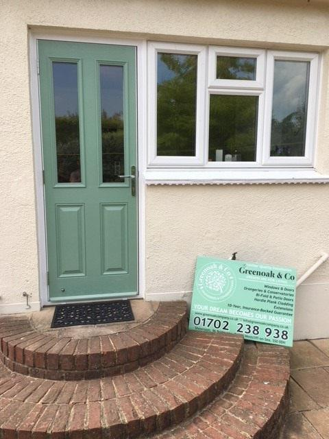 Image 88 - Westcliff-on-Sea-Chartwell green composite door