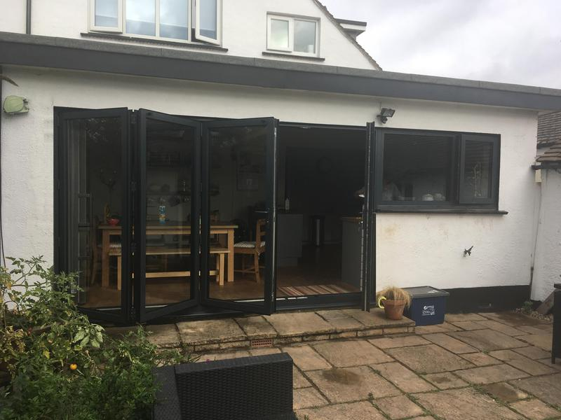 Image 86 - Westcliff-on-Sea-Grey Bi-folding doors