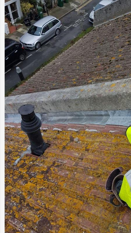 Image 11 - this is the same parapet wall as you can see lead 4 inches up 4 inches out