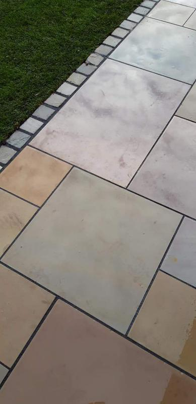 Image 20 - Polished sandstone pointed with resin for a life time of no maintaining