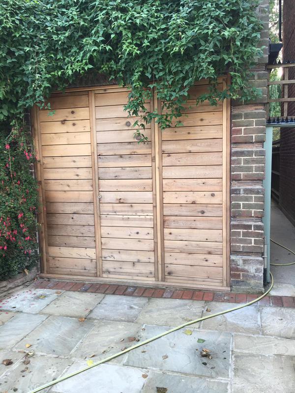 Image 21 - Cedar garage doors with hidden hinges
