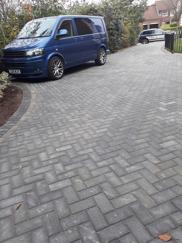 Image 27 - Another stunning driveway completed in miltonkeynes layed in 45dg herringbone
