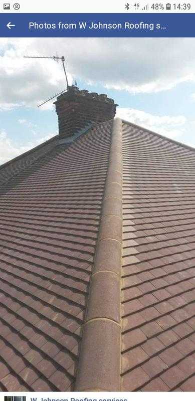 Image 21 - Ridge rebed in cement on plain tile roof