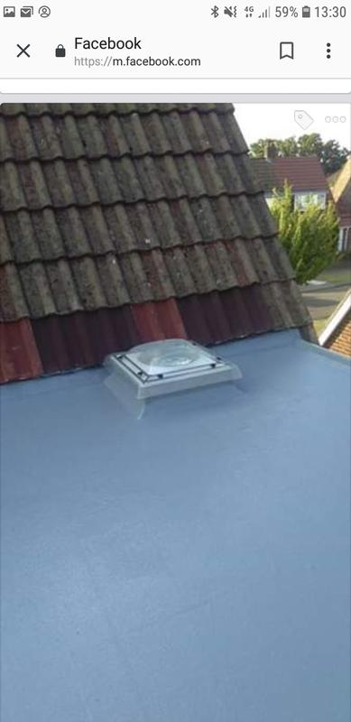 Image 28 - Grp fiber glass flat roof system molding around skylight