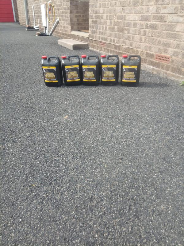 Image 112 - Tarmac reviver it's a cheaper way than ripping up drives and it makes them look like brand new